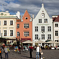 Tallinns Town Hall Square by Christian Hallweger