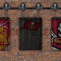 Tampa Bay Buccaneers Brick Wall by Joe Hamilton