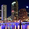Tampa Bay Pano Lights by Frozen in Time Fine Art Photography