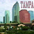 Tampa From The River Tote by Robert Wilder Jr