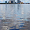 Tampa Skyline Over The Bay by Carol Groenen