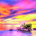 Tanah Lot Temple Sunset Bali by Dominic Piperata