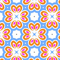Tangerine And Sky Floral Pattern- Art By Linda Woods by Linda Woods
