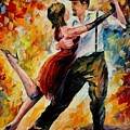 Tango In Red by Leonid Afremov