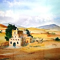 Taos Adobe by Larry Hamilton