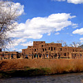 Taos Pueblo Early Spring by Kurt Van Wagner