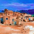 Taos Pueblo Village by Elise Palmigiani
