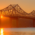 Tappan Zee Bridge At Sunset I by Clarence Holmes