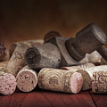 Tapped Out - Wine Tap With Corks by Tom Mc Nemar