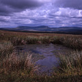 Tarn On The Slopes Of Whernside With Pen-y-ghent On The Horizon Yorkshire Dales England by Michael Walters