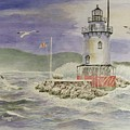 Tarrytown Lighthouse From The South by Stephen Serina