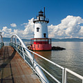 Tarrytown Lighthouse Hudson River New York by George Oze