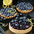 Tart With Blueberries by Natasha Breen