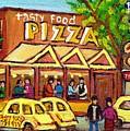Tasty Food Pizza On Decarie Blvd by Carole Spandau