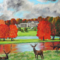 Tatton Hall In Autumn by Ronald Haber