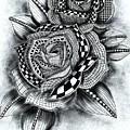 Tattoo Rose Greyscale by Becky Herrera