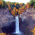Taughannock Waterfalls In Autumn by Paul Ge