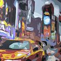 Taxi On Broadway by Sabino Caputo