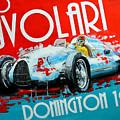 Tazio Nuvolari Auto Union D Donnington 1939 by Daniel Senkerik
