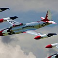 Tbirds Lockheed T-33 Shooting Star by Tommy Anderson