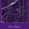 Tcu Street Map - Texas Christian University Fort Worth Map by Jurq Studio
