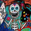 Te Amo Painter Dia De Los Muertos by Pristine Cartera Turkus