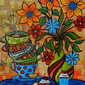 Tea And Cakes by Peggy Davis