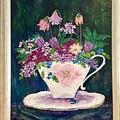 Tea Cup Bloom by Fatema Ansari