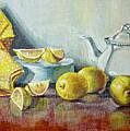 Tea With Lemon by JoAnne Castelli-Castor