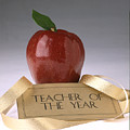 Teacher Of The Year Award Poster by Greg Kopriva