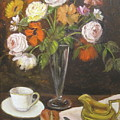 Teacup And Flowers by Aurelia Nieves-Callwood