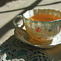 Teacup On Lace by Brooke T Ryan
