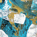 Teal Blue Abstract Painting by Christina Rollo