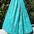 Teal Green Lace Skirt. Ameynra By Sofia by Sofia Metal Queen