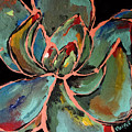 Teal Pink Succulent by Maggie Turner