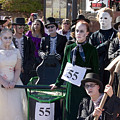Team 55 At Emma Crawford Coffin Races In Manitou Springs Colorado by Steve Krull