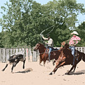 Team Roping by Andrea Lawrence