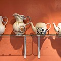 Teapots At Morning Buns by Kim Bemis