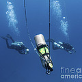 Technical Divers Ascend Near A Nitrox by Karen Doody