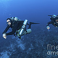 Technical Divers With Equipment by Karen Doody