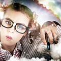 Technology Smart Woman Using Cloud Computing by Jorgo Photography - Wall Art Gallery
