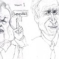 Ted Kennedy One President Bush Four Thousand One Hundred Forty Five And Counting by Cartoon Hempman
