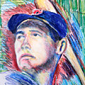 Ted Williams Boston Redsox  by Jon Baldwin  Art