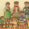 Teddybears And Bears Christmas by Kestutis Kasparavicius