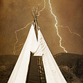 Tee Pee Lightning by James BO  Insogna