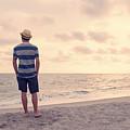Teen Boy On Beach by Edward Fielding