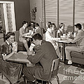 Teens At A Diner, C. 1950s by H. Armstrong Roberts/ClassicStock