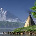 Teepee By A Lake by Daniel Eskridge