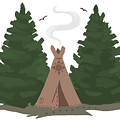 Teepee In The Woods by Brandy Woods