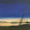 Teepee Poles by Jeannette Sommers